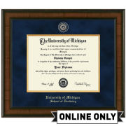University of Michigan Diploma Frame: Presidential [Dental]<br><b>*AVAILABLE ONLINE ONLY*</br></b>