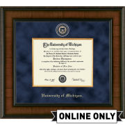 University of Michigan Diploma Frame: Presidential [PhD]<br><b>*AVAILABLE ONLINE ONLY*</br></b>
