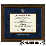 University of Michigan Diploma Frame: Presidential [Medical]<br><b>*AVAILABLE ONLINE ONLY*</br></b>