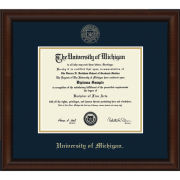 University of Michigan Diploma Frame: Church Hill Classics Embossed Lenox [Bach/Masters]