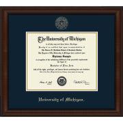 University of Michigan Diploma Frame: Church Hill Classics Embossed Lenox [Bach/Masters]