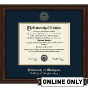 University of Michigan Diploma Frame: Church Hill Classics Embossed Lenox [College of Engineering]