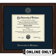 University of Michigan Diploma Frame: Church Hill Classics Embossed Lenox [PhD]<br><b>*AVAILABLE ONLINE ONLY*</br></b>
