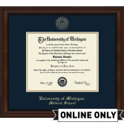 University of Michigan Diploma Frame: Church Hill Classics Embossed Lenox [Medical School]