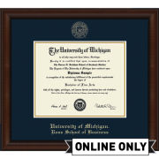 University of Michigan Diploma Frame: Church Hill Classics Embossed Lenox [Ross School of Business]<br><b>*AVAILABLE ONLINE ONLY*</br></b>