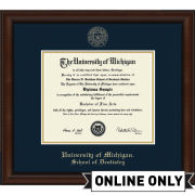 University of Michigan Diploma Frame: Church Hill Classics Embossed Lenox [School of Dentistry]<br><b>*AVAILABLE ONLINE ONLY*</br></b>