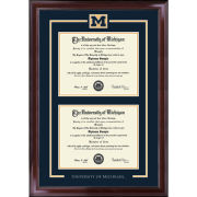 University of Michigan Diploma Frame: Spirit Encore [Dual Bachelors/Masters]