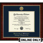 University of Michigan Diploma Frame: Church Hill Classics Engraved Medallion Murano [College of Engineering]