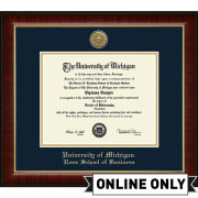 University of Michigan Diploma Frame: Church Hill Classics Engraved Medallion Murano [Ross School of Business]