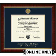 University of Michigan Diploma Frame: Church Hill Classics Engraved Medallion Murano [School of Dentistry]
