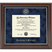 University of Michigan Diploma Frame: Church Hill Classics Regal Edition Diploma Frame [PhD]