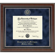 University of Michigan Diploma Frame: Church Hill Classics Regal Edition Diploma Frame [Medical School]