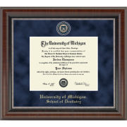 University of Michigan Diploma Frame: Church Hill Classics Regal Edition Diploma Frame [School of Dentistry]