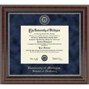 University of Michigan Diploma Frame: Church Hill Classics Regal Edition Diploma Frame [School of Dentistry]