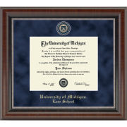 University of Michigan Diploma Frame: Church Hill Classics Regal Edition Diploma Frame [Law School]