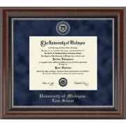 University of Michigan Diploma Frame: Church Hill Classics Regal Edition Diploma Frame [Law School]