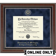 University of Michigan Diploma Frame: Church Hill Classics Regal Edition Diploma Frame [College of Engineering]<b><br>*AVAILABLE ONLINE ONLY*</b></br>
