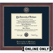 University of Michigan Diploma Frame: Masterpiece Medallion [Ross School of Business]<b><br>*AVAILABLE ONLINE ONLY*</b></br>