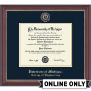 University of Michigan Diploma Frame: Masterpiece Medallion [College of Engineering]<b><br>*AVAILABLE ONLINE ONLY*</b></br>