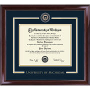 University of Michigan Diploma Frame: Showcase [PhD]