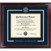 University of Michigan Diploma Frame: Showcase [PhD]