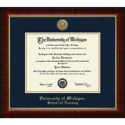 University of Michigan Diploma Frame: Church Hill Classics Engraved Medallion Murano [School of Nursing]