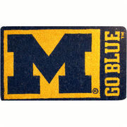 Team Sports America University of Michigan Block M Coir Doormat