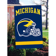 University of Michigan Football Helmet House Flag