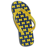 Beach Duds University of Michigan All Over M Flip Flops