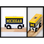 College Team Trains University of Michigan Wooden Boxcar