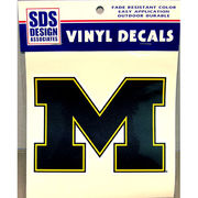 SDS University of Michigan 6 Vinyl M Decal