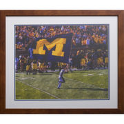 Framed Michigan Flag Watercolor Print
