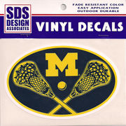 SDS University of Michigan Lacrosse Euro Decal
