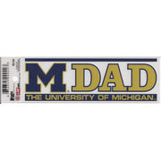 CDI University of Michigan Dad Static Cling Decal
