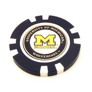 Team Golf University of Michigan Poker Chip with Magnetic Golf Ball Marker