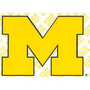 CDI University of Michigan Colorshock Yellow Block M Decal