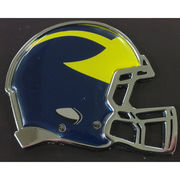 Stockdale University of Michigan Football Chrome Metal Auto Emblem