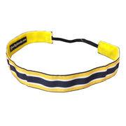 One Up Bands University of Michigan Navy/Yellow Stripe Non-Slip Headband