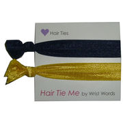 Wrist Words University of Michigan Hair Tie Me Navy & Yellow Hair Ties