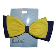 Pomchies University of Michigan Maize & Blue Clip Hair Bow