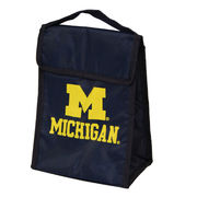 Forever Collectibles Michigan Wolverines Navy Collapsible Lunch Bag