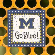 Glory Haus University of Michigan Polka Dot Magnet