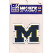 SDS University of Michigan Small 3 Block M Car Magnet