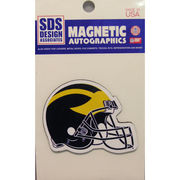 Small Michigan Wolverines Helmet Car Magnet