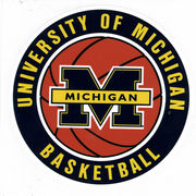SDS University of Michigan Basketball 6 Vinyl Decal