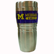 RFSJ University of Michigan Steel City Stainless Steel Travel Coffee Mug