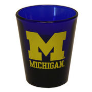 RFSJ University of Michigan Cobalt Blue Block M Shot Glass