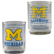 RFSJ University of Michigan Set of 4 Old Fashioned Rocks Glasses