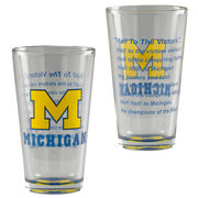 RFSJ University of Michigan Block M Fight Song Pint Glass