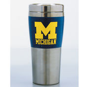 RFSJ University of Michigan Stainless Steel Fusion Travel Coffee Mug